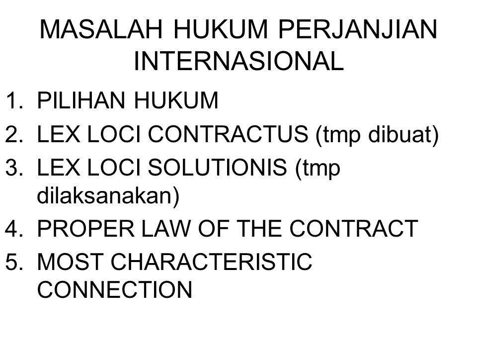 MASALAH HUKUM PERJANJIAN INTERNASIONAL