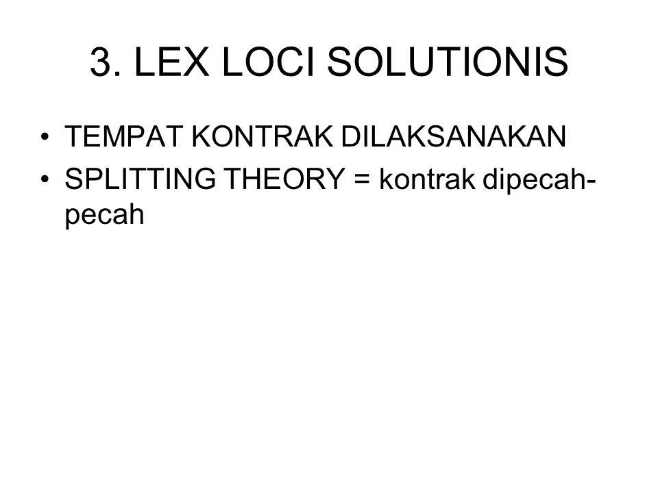 3. LEX LOCI SOLUTIONIS TEMPAT KONTRAK DILAKSANAKAN