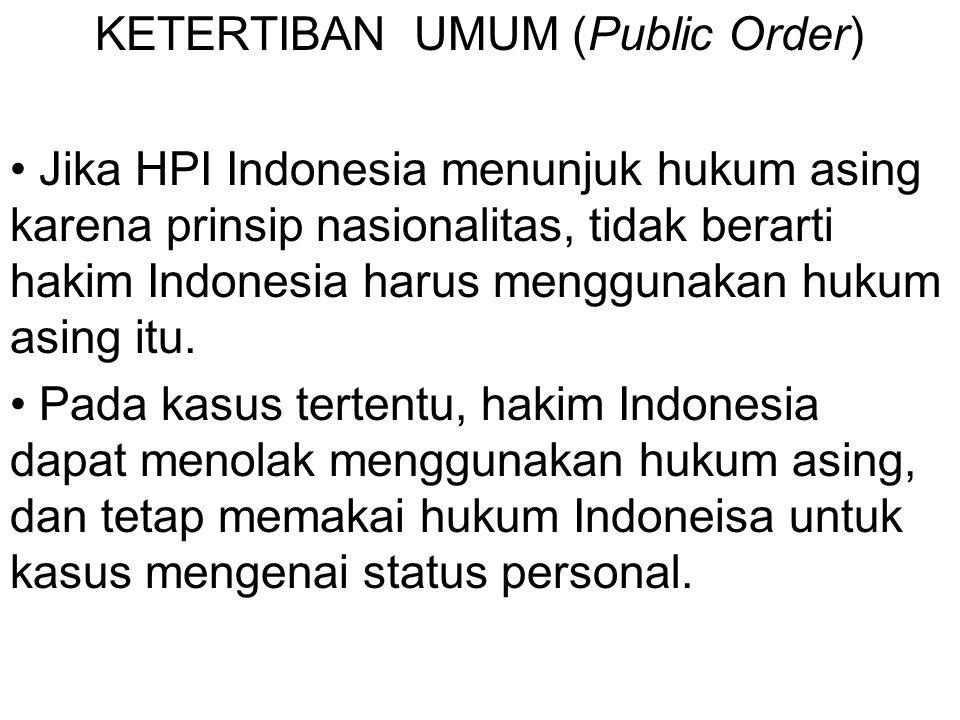 KETERTIBAN UMUM (Public Order)