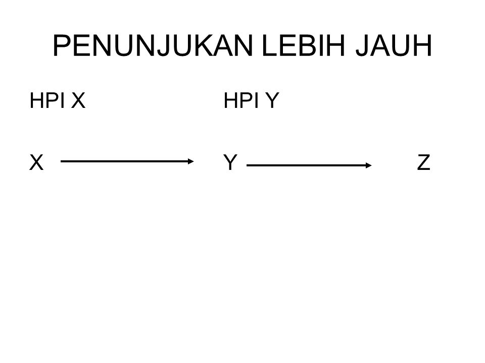 PENUNJUKAN LEBIH JAUH HPI X HPI Y X Y Z