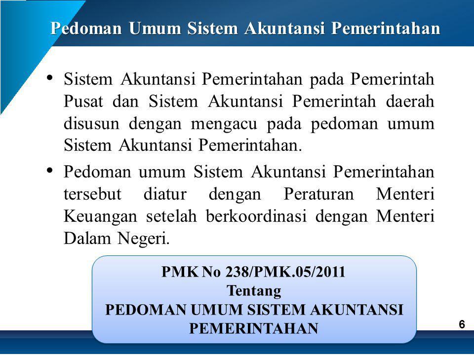 Pedoman Umum Sistem Akuntansi Pemerintahan
