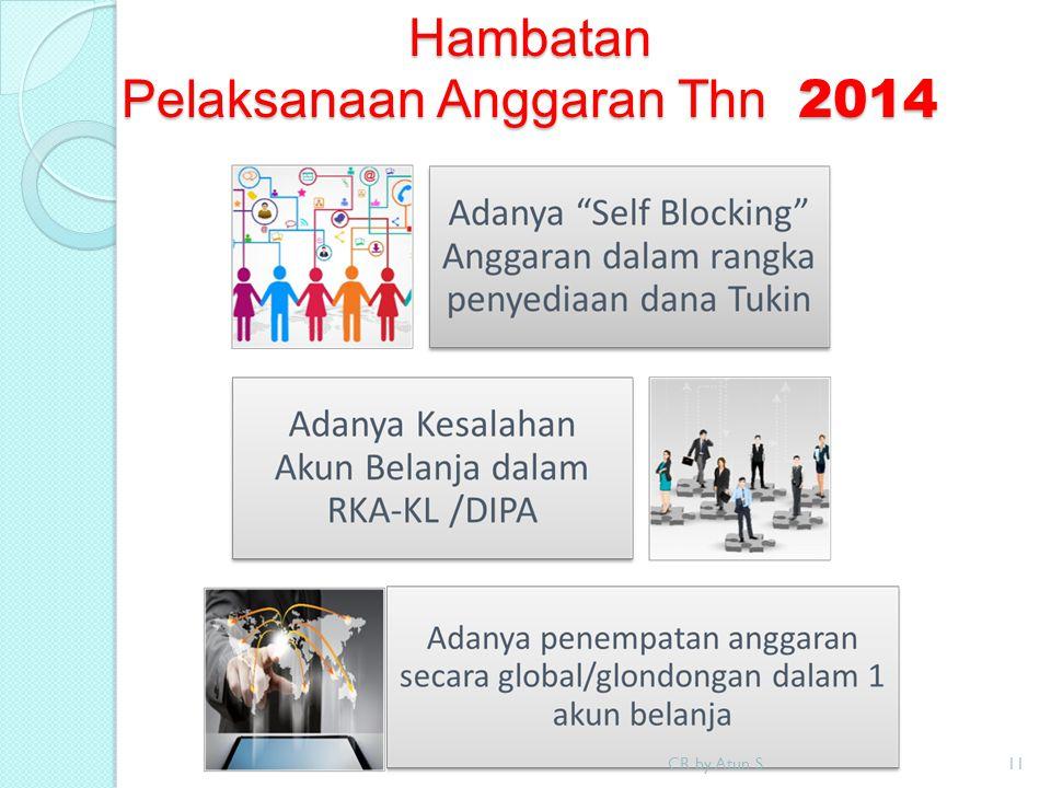 Hambatan Pelaksanaan Anggaran Thn 2014