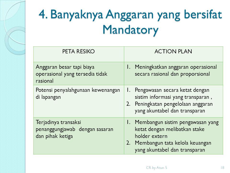 4. Banyaknya Anggaran yang bersifat Mandatory