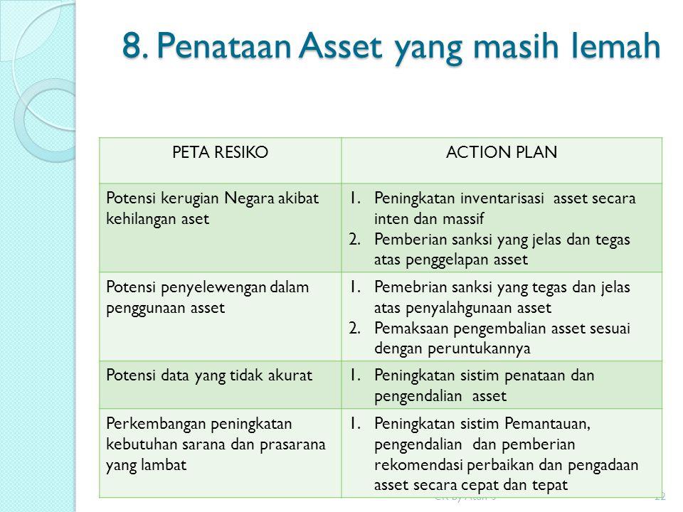 8. Penataan Asset yang masih lemah