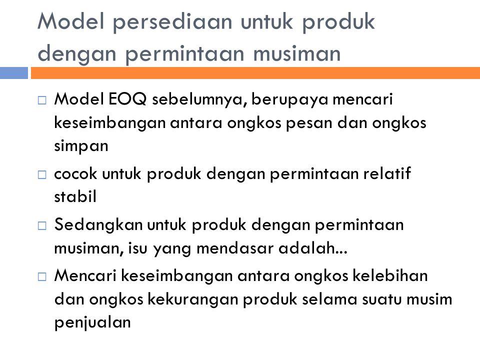 Model persediaan untuk produk dengan permintaan musiman