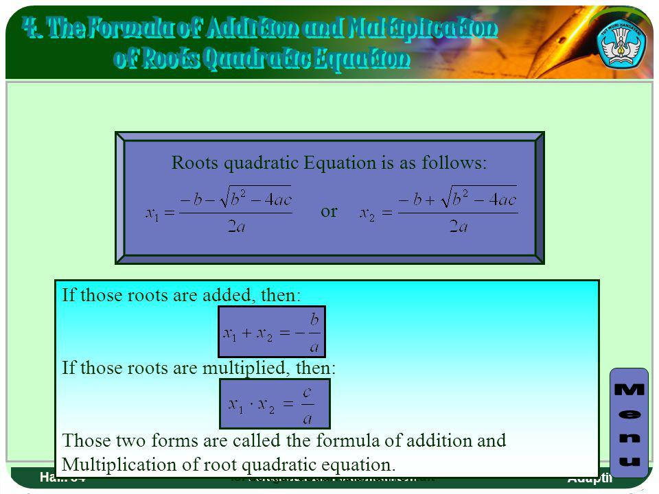 4. The Formula of Addition and Multiplication