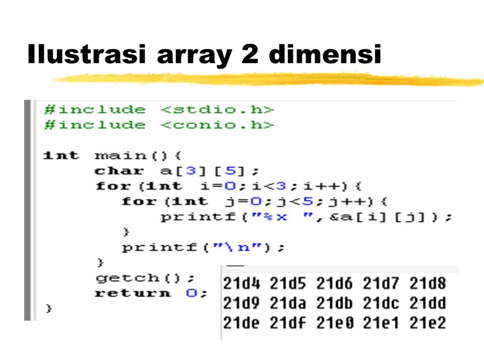 Ilustrasi array 2 dimensi