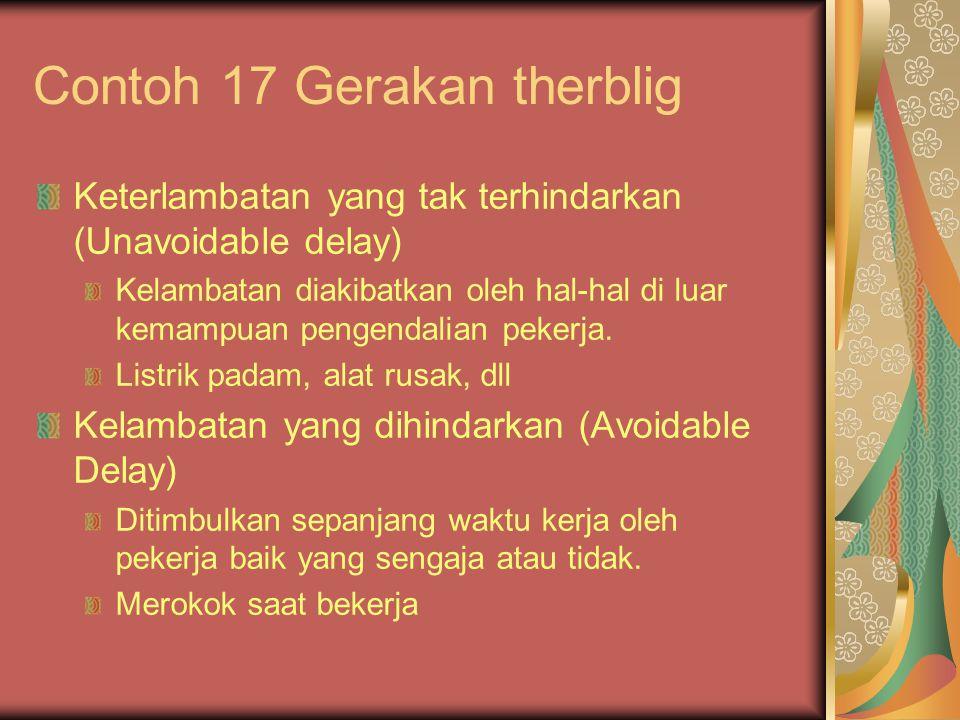 Contoh 17 Gerakan therblig