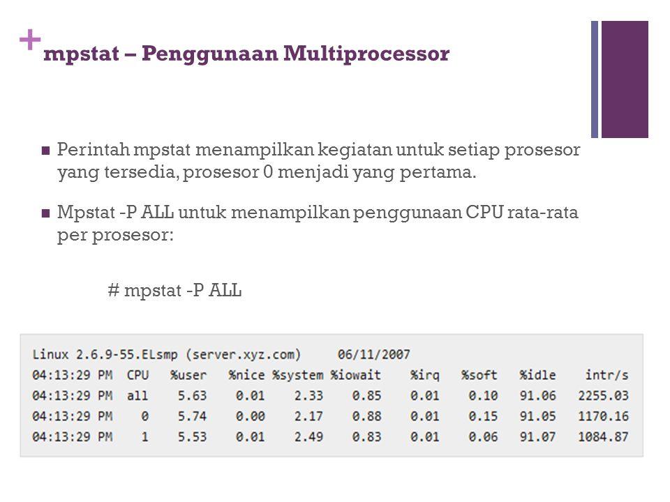 mpstat – Penggunaan Multiprocessor