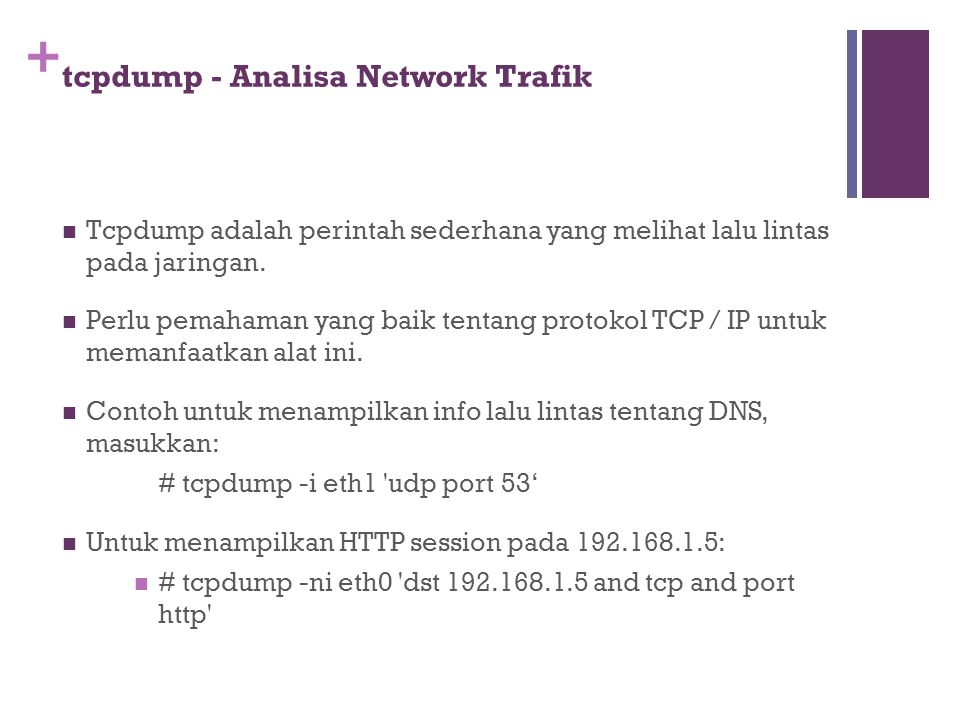 tcpdump - Analisa Network Trafik