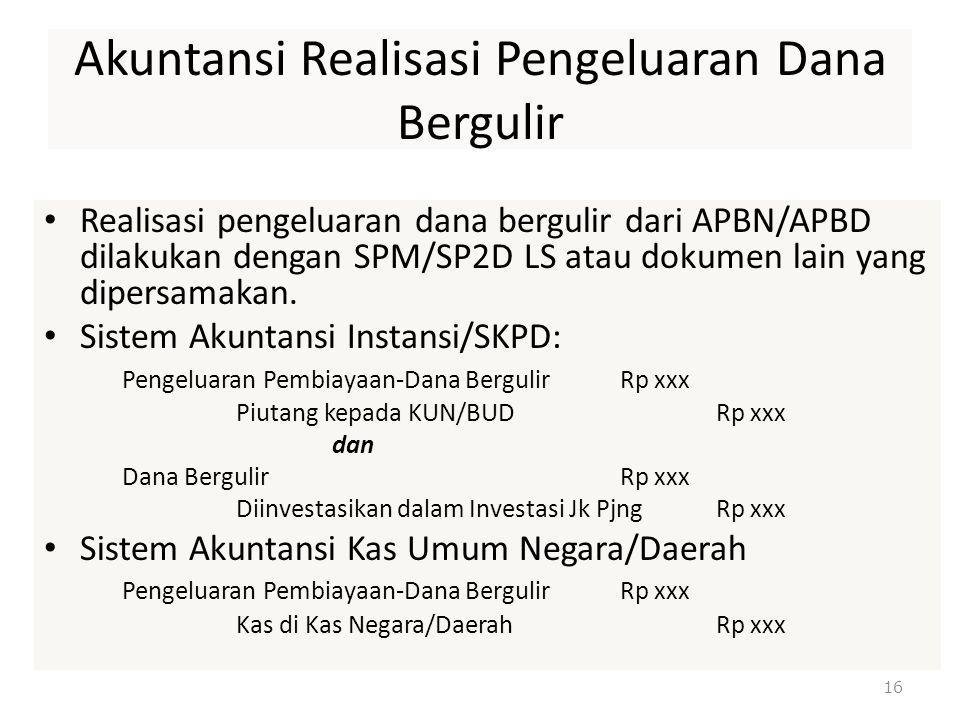 Akuntansi Realisasi Pengeluaran Dana Bergulir