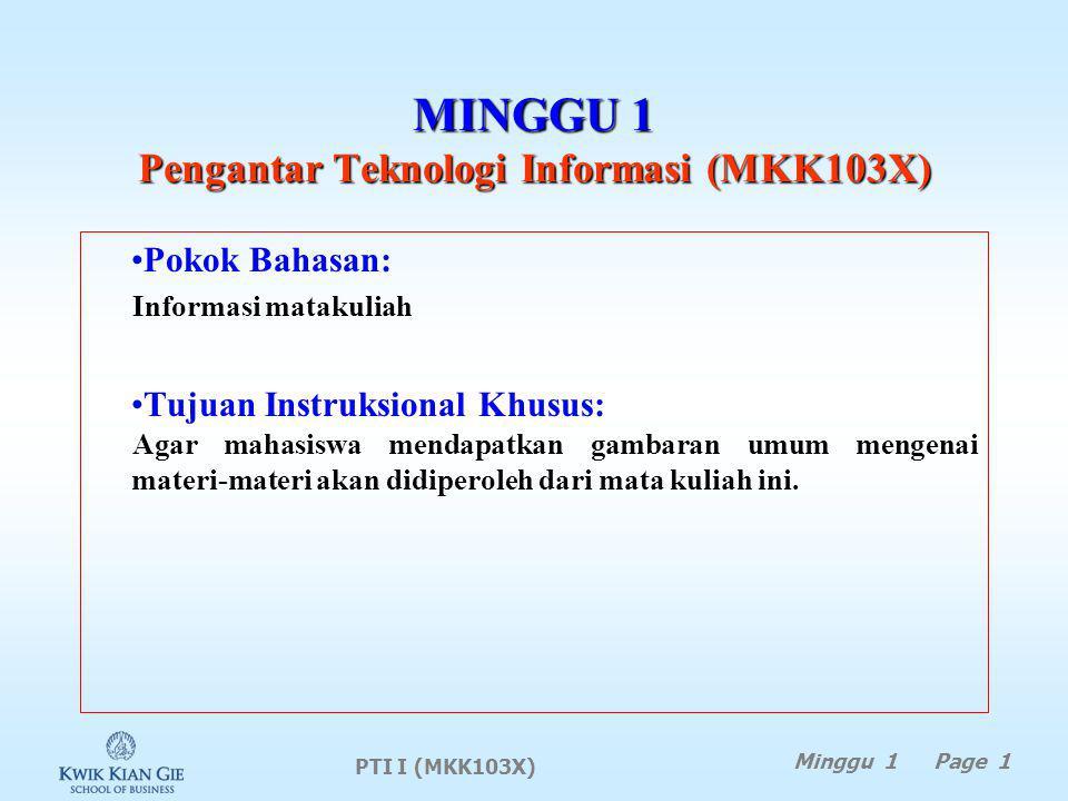 MINGGU 1 Pengantar Teknologi Informasi (MKK103X)