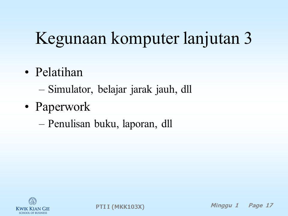 Kegunaan komputer lanjutan 3