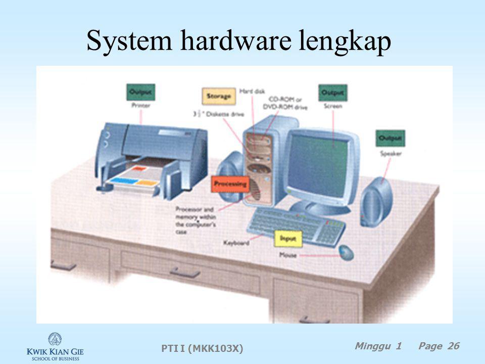 System hardware lengkap