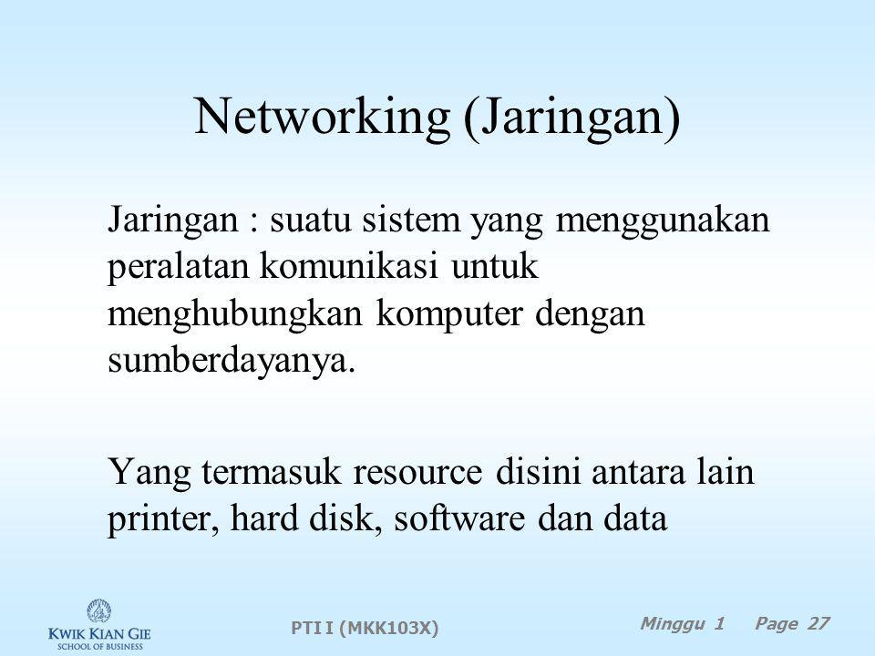 Networking (Jaringan)