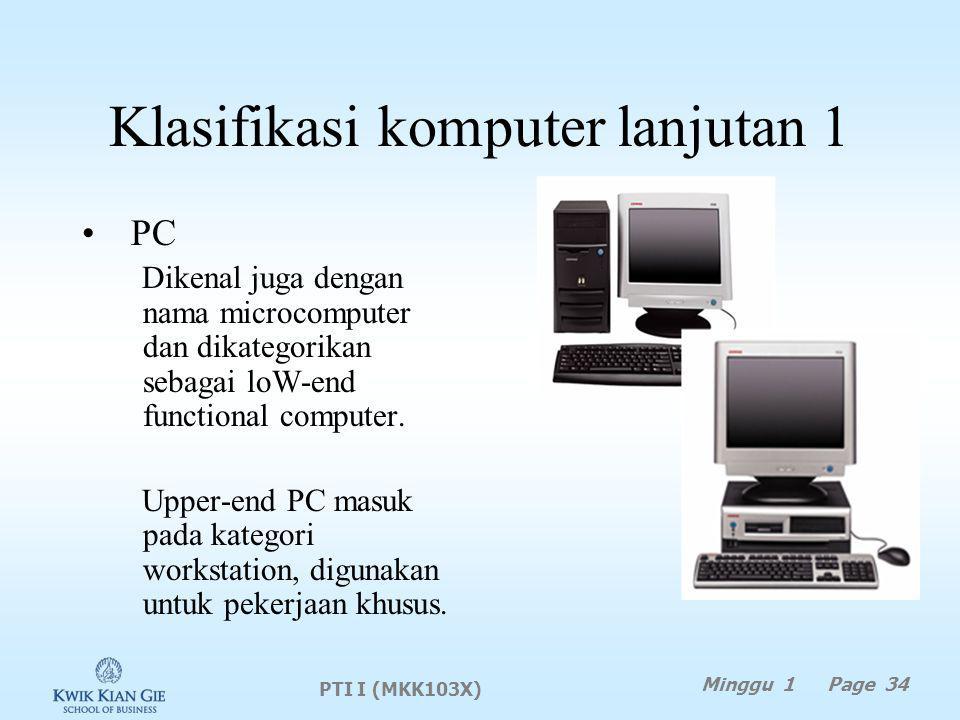 Klasifikasi komputer lanjutan 1