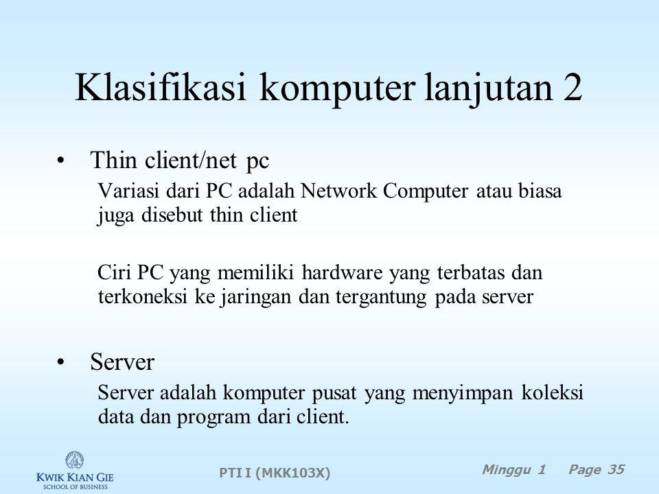 Klasifikasi komputer lanjutan 2