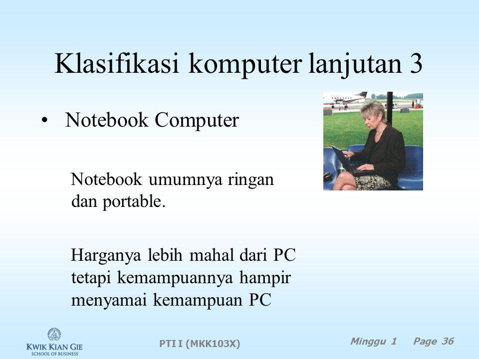 Klasifikasi komputer lanjutan 3
