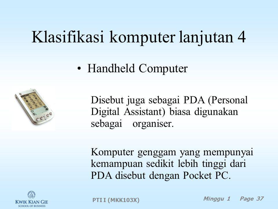 Klasifikasi komputer lanjutan 4