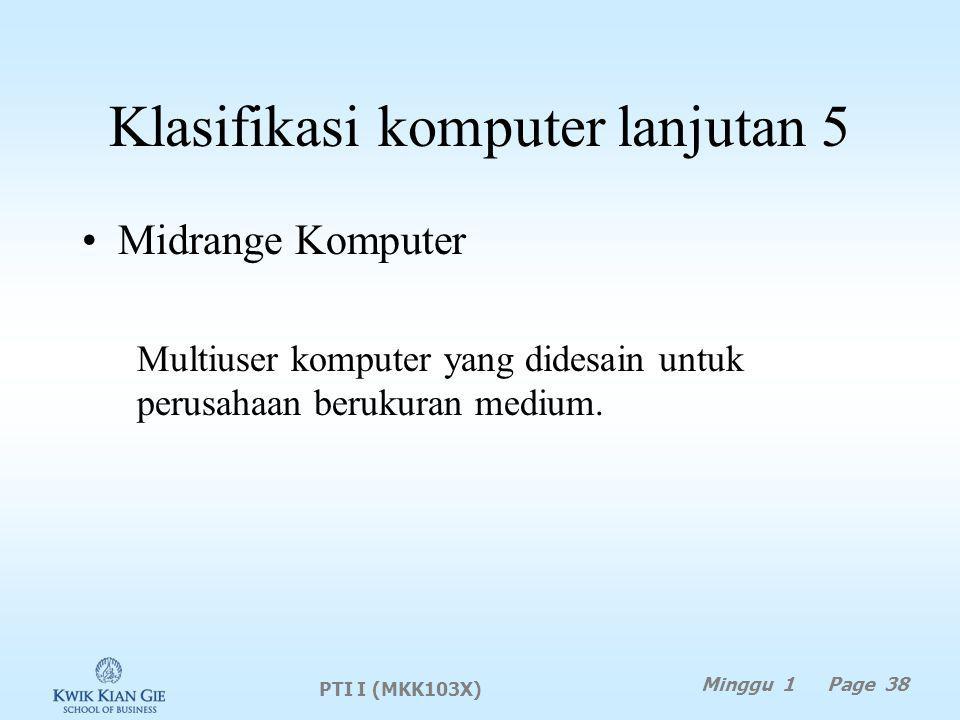 Klasifikasi komputer lanjutan 5