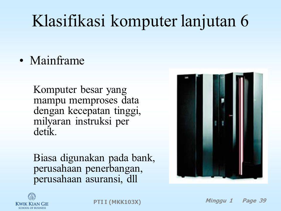 Klasifikasi komputer lanjutan 6