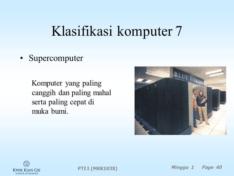 Klasifikasi komputer 7 Supercomputer