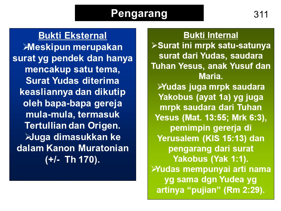Juga dimasukkan ke dalam Kanon Muratonian (+/- Th 170).