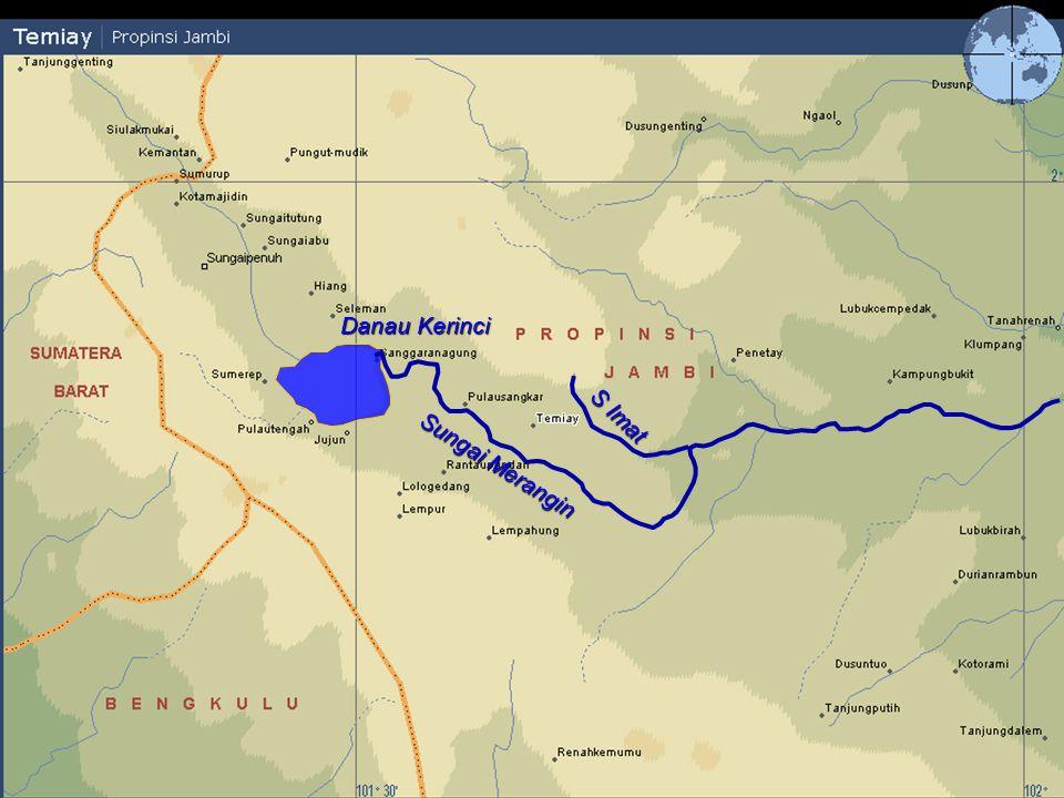 Danau Kerinci S Imat Sungai Merangin N Tarutung Pulausangkar Lubukpaku