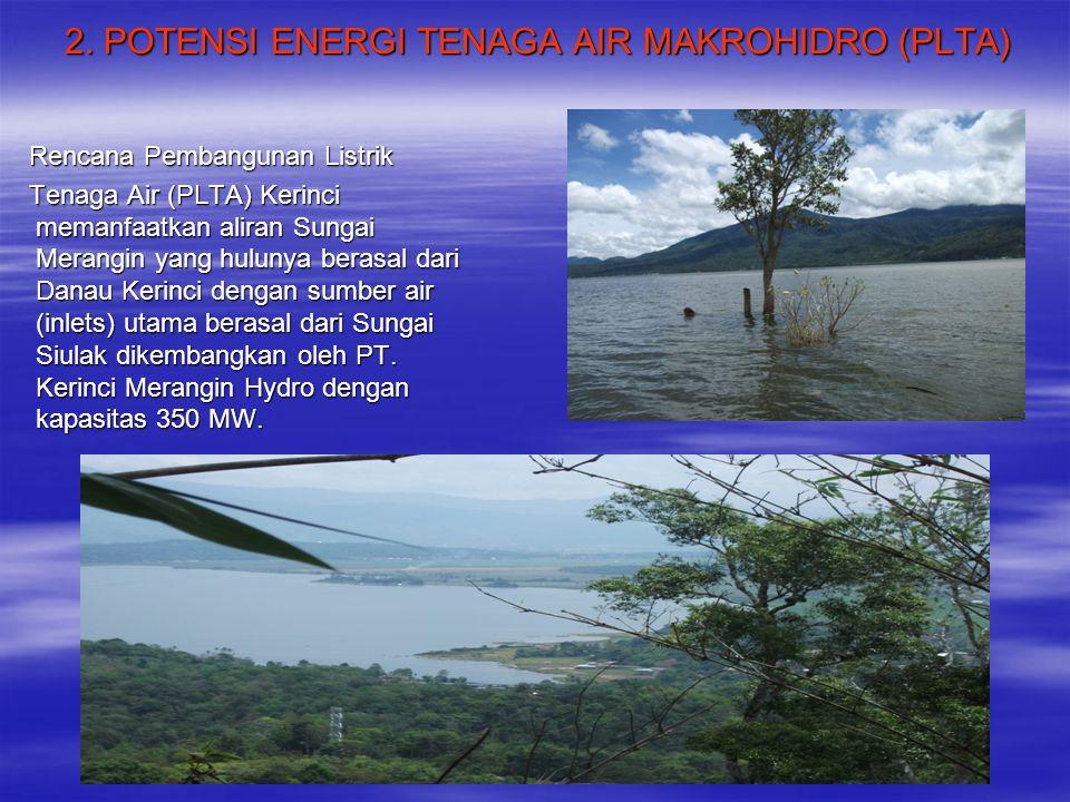 2. POTENSI ENERGI TENAGA AIR MAKROHIDRO (PLTA)
