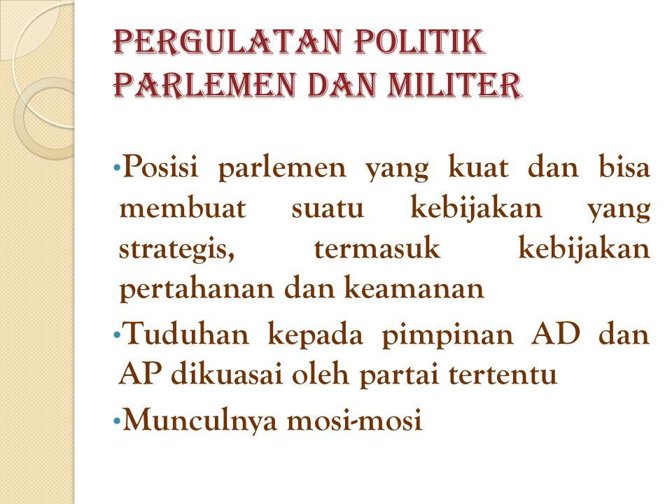 Pergulatan Politik Parlemen dan Militer