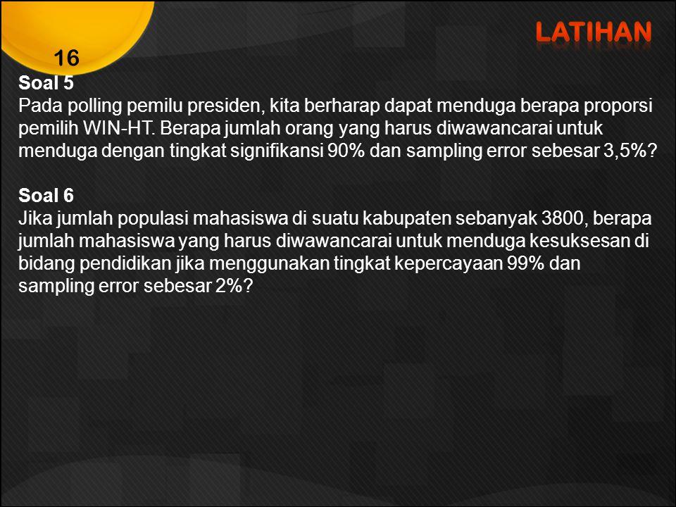 LATIHAN Soal 5.