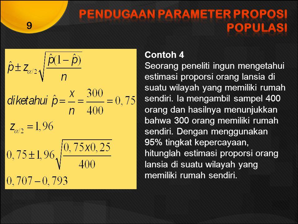 PENDUGAAN PARAMETER PROPOSI POPULASI