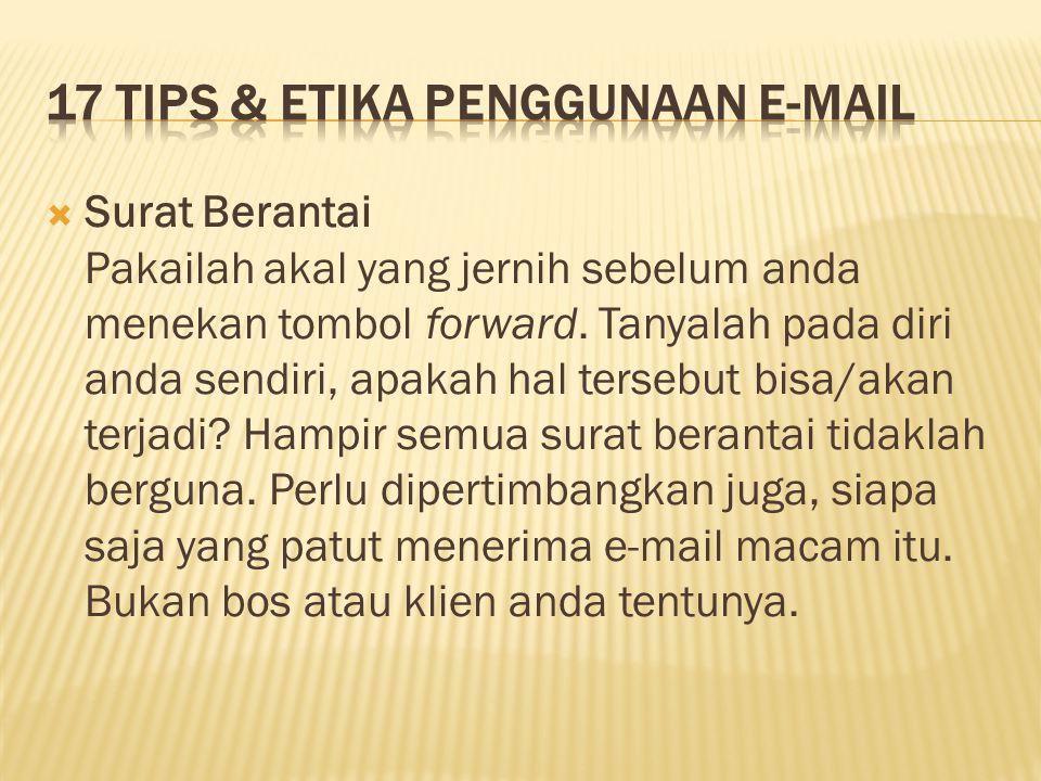 17 Tips & Etika Penggunaan E-mail