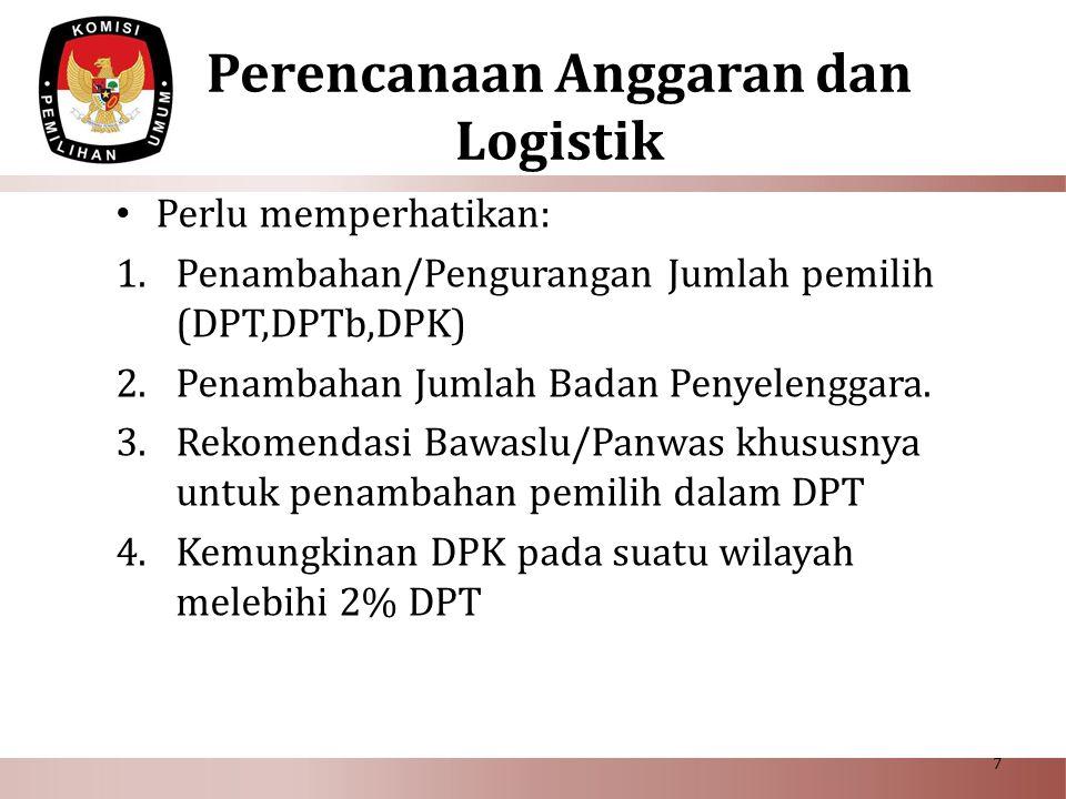 Perencanaan Anggaran dan Logistik