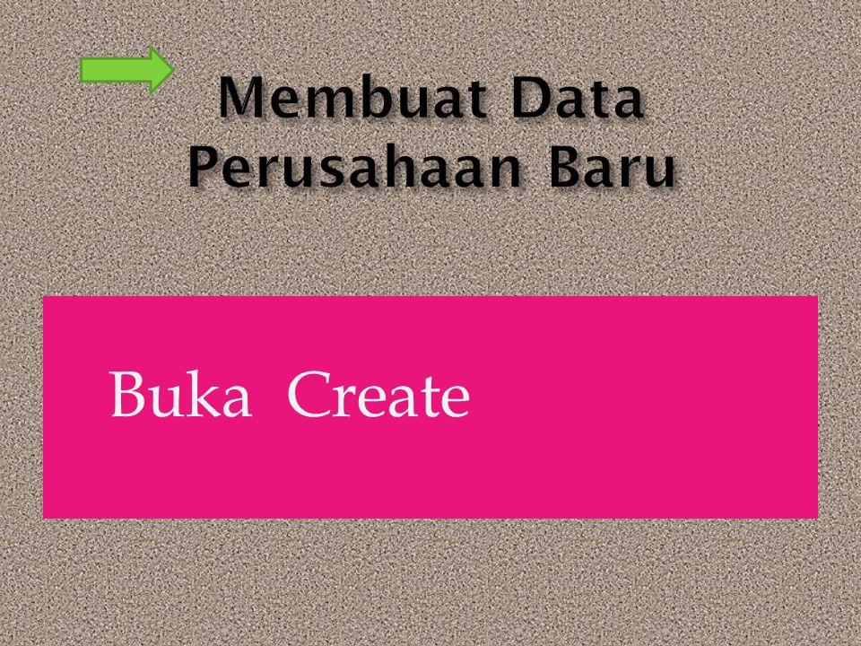 Membuat Data Perusahaan Baru