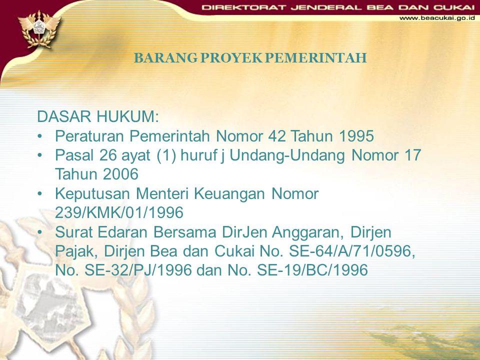 BARANG PROYEK PEMERINTAH