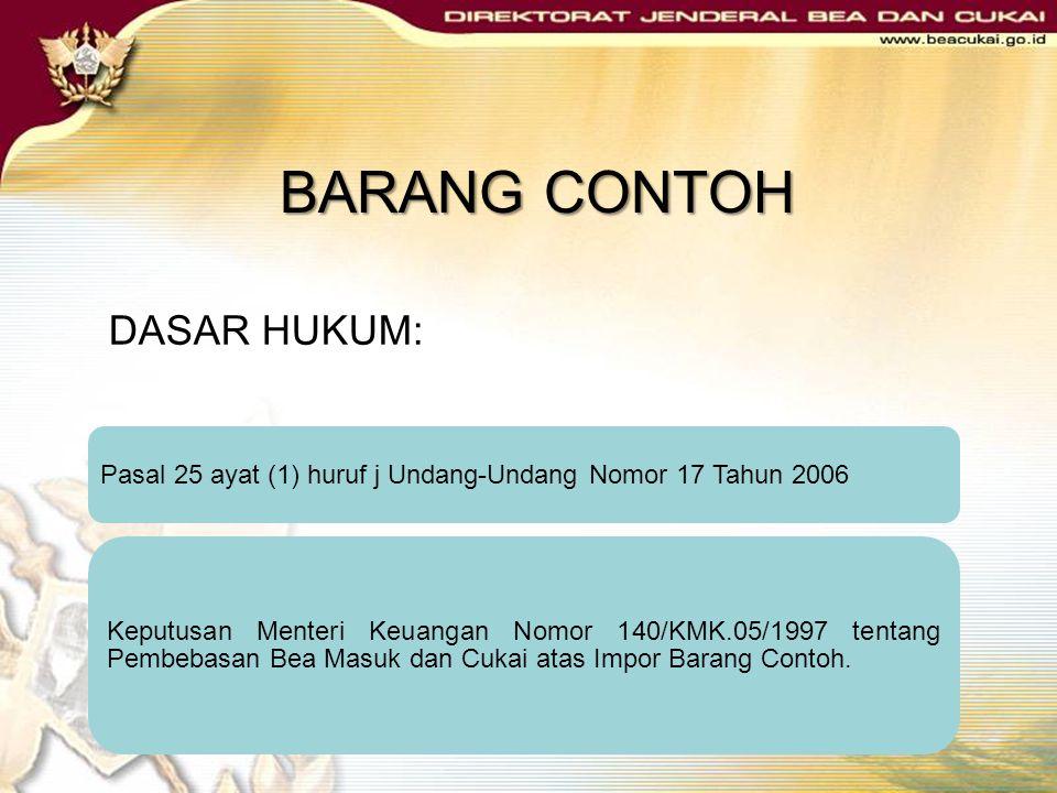 BARANG CONTOH DASAR HUKUM: