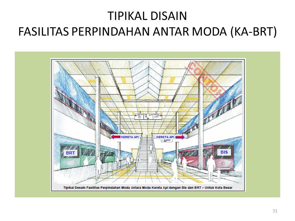 TIPIKAL DISAIN FASILITAS PERPINDAHAN ANTAR MODA (KA-BRT)