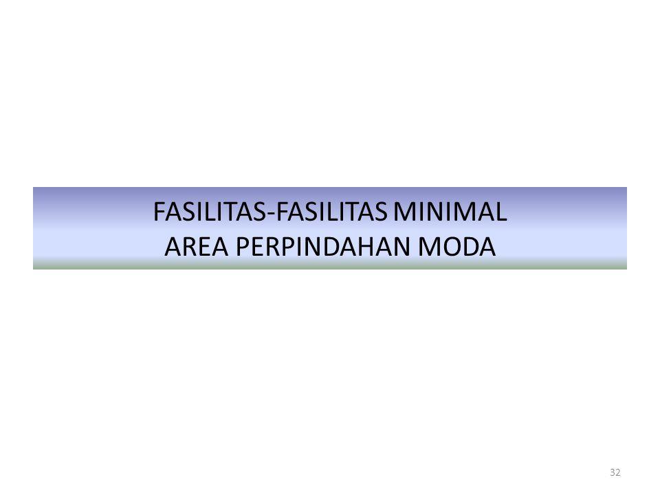 FASILITAS-FASILITAS MINIMAL AREA PERPINDAHAN MODA