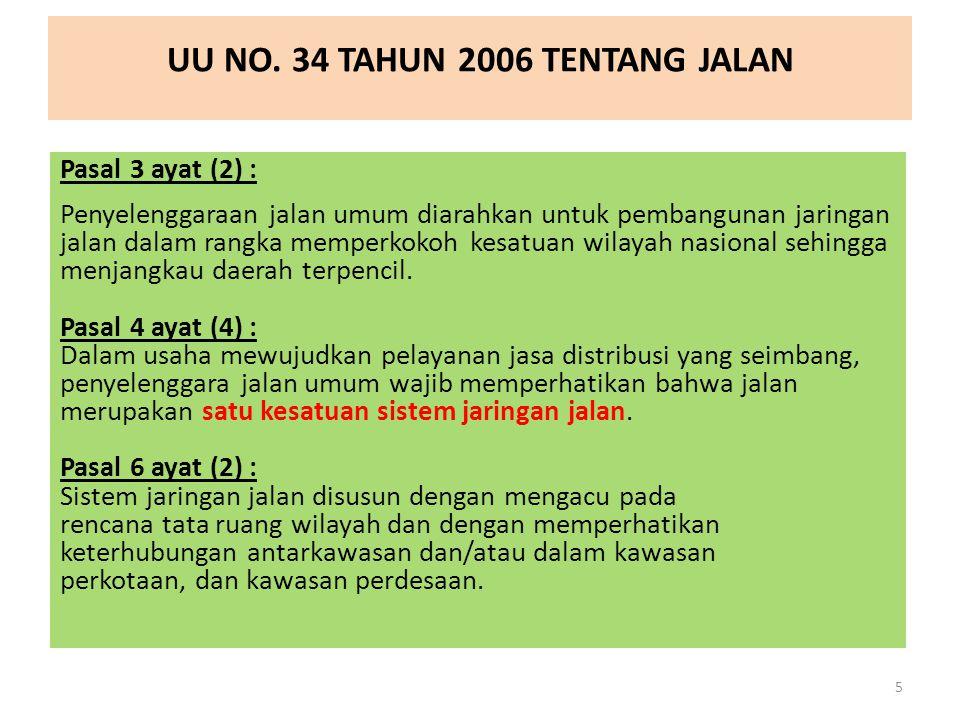 UU NO. 34 TAHUN 2006 TENTANG JALAN