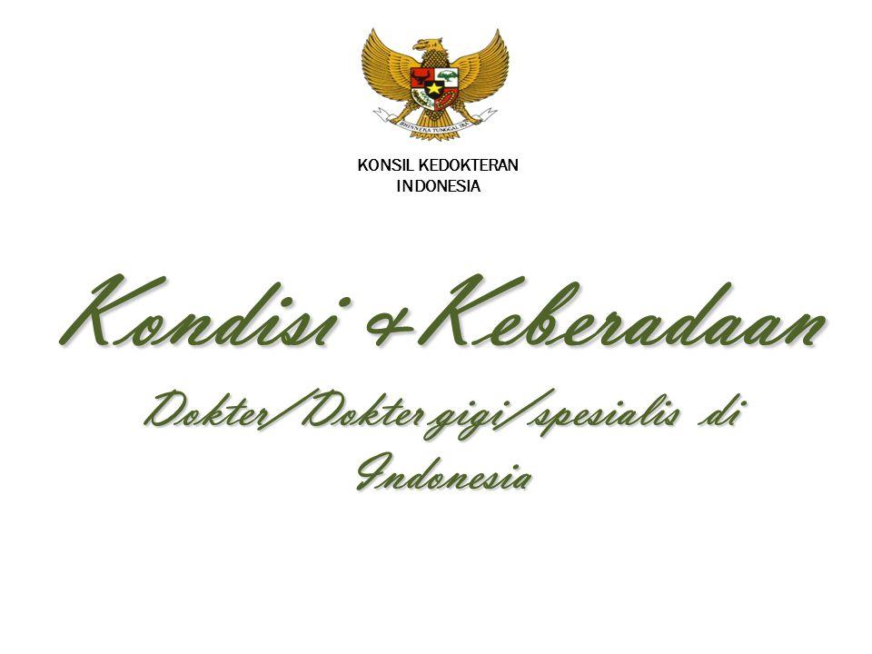 Kondisi &Keberadaan Dokter/Dokter gigi/spesialis di Indonesia