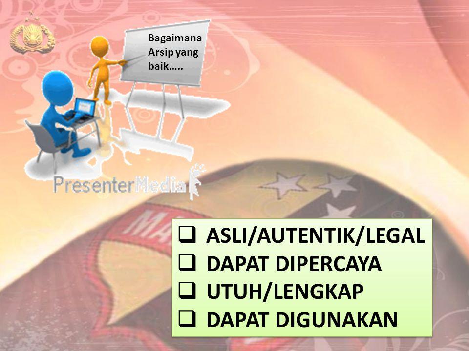 ASLI/AUTENTIK/LEGAL DAPAT DIPERCAYA UTUH/LENGKAP DAPAT DIGUNAKAN