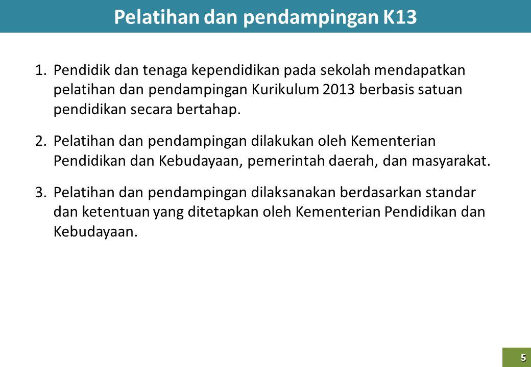 Pelatihan dan pendampingan K13