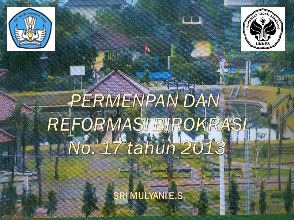 PERMENPAN DAN REFORMASI BIROKRASI No. 17 tahun 2013
