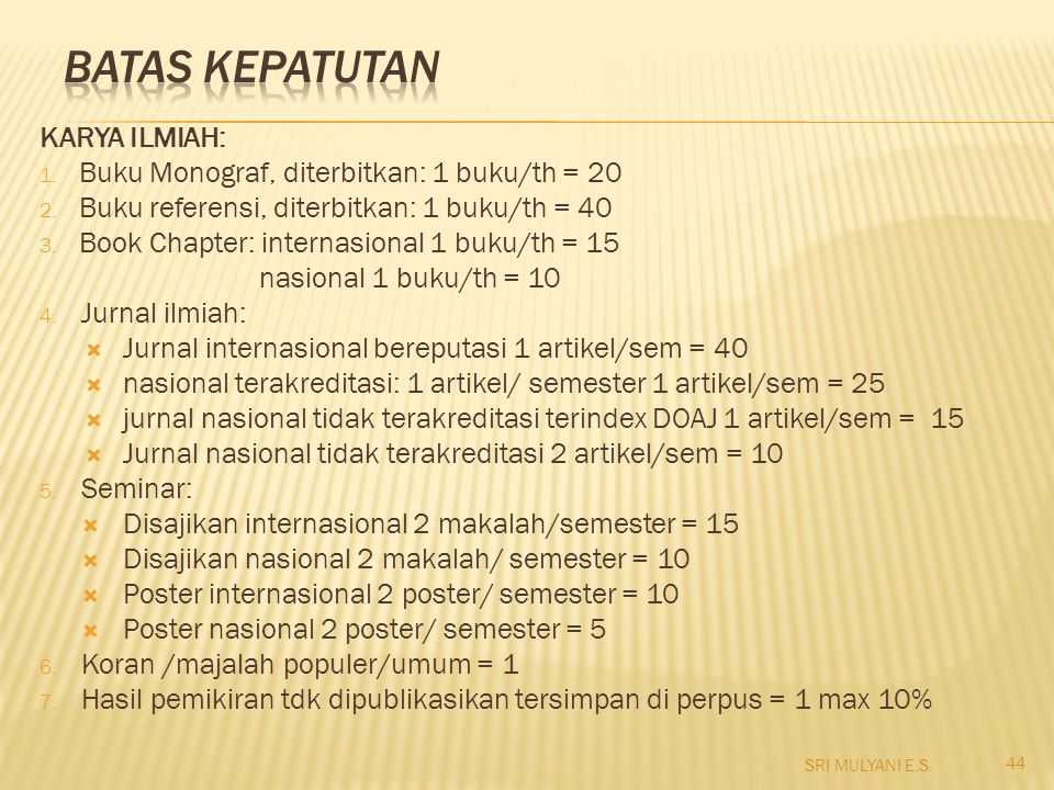 BATAS KEPATUTAN KARYA ILMIAH: