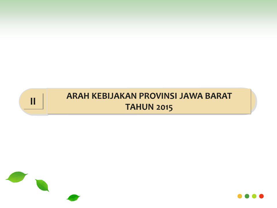 ARAH KEBIJAKAN PROVINSI JAWA BARAT TAHUN 2015