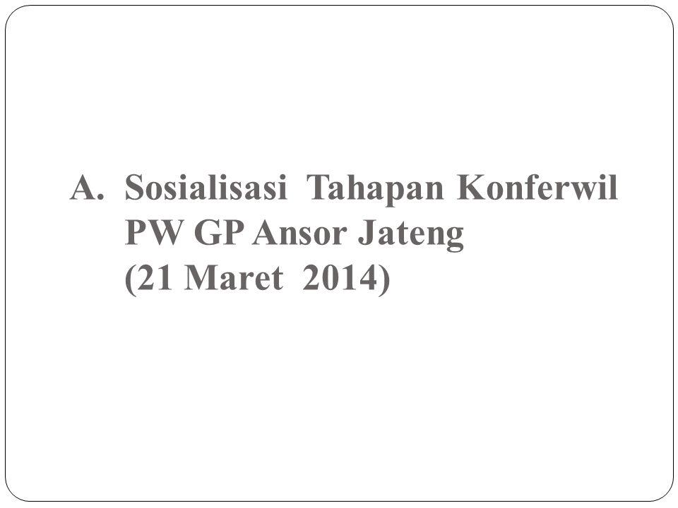 Sosialisasi Tahapan Konferwil PW GP Ansor Jateng (21 Maret 2014)