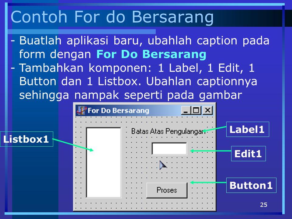 Contoh For do Bersarang