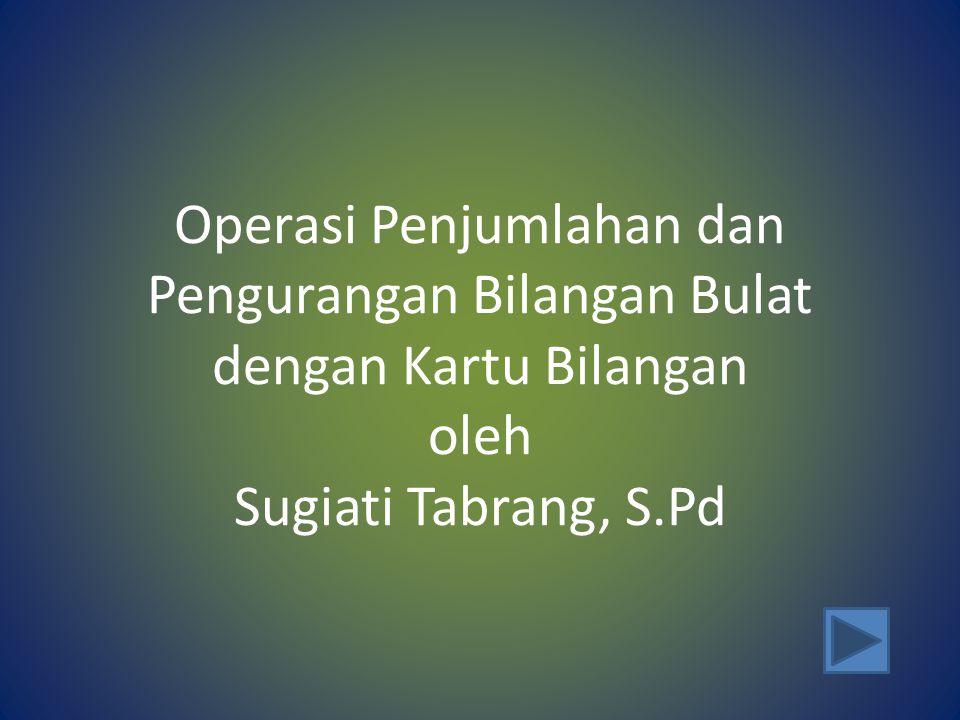 Operasi Penjumlahan dan Pengurangan Bilangan Bulat dengan Kartu Bilangan oleh Sugiati Tabrang, S.Pd