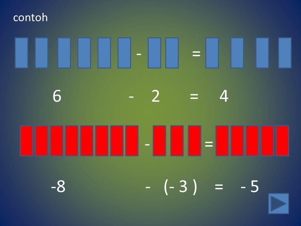 contoh - = 6 - 2 = 4.